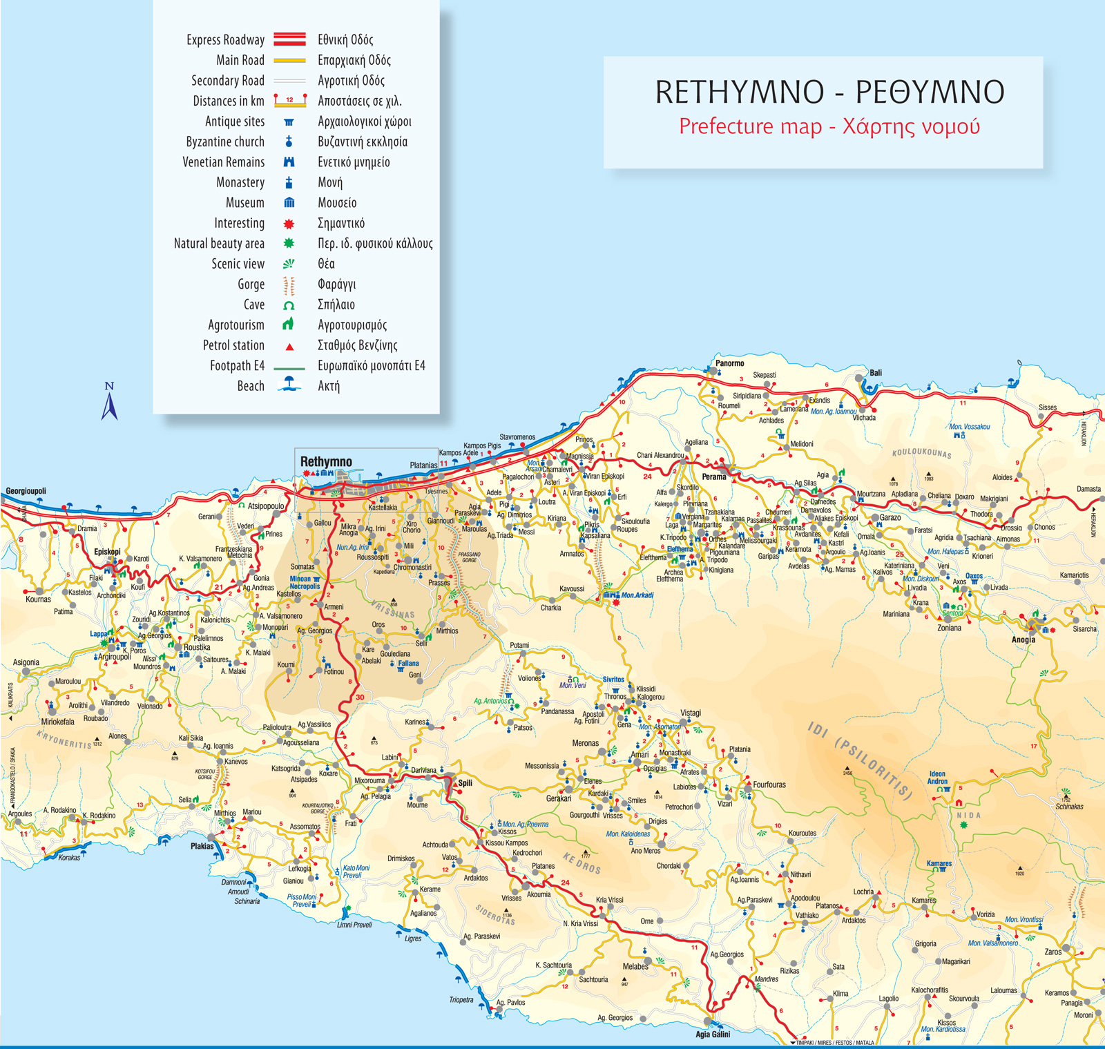 Rethymno Perfecture Map